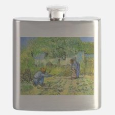 The First Step by Vincent van Gogh. Flask