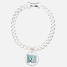 Ovarian Cancer Awareness Month Charm Bracelet, One