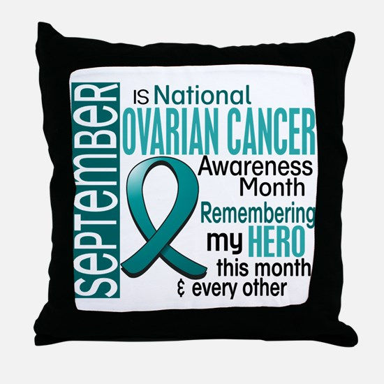 Ovarian Cancer Awareness Month Throw Pillow