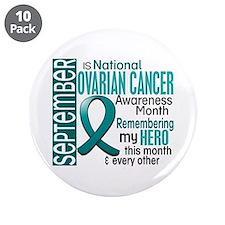 """Ovarian Cancer Awareness Month 3.5"""" Button (10 pac"""