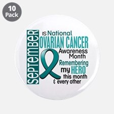 "Ovarian Cancer Awareness Month 3.5"" Button (10 pac"