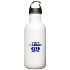 Property of Illinois the Land of Lincoln Water Bottle