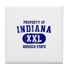 Property of Indiana the Hoosier State Tile Coaster