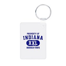 Property of Indiana the Hoosier State Keychains