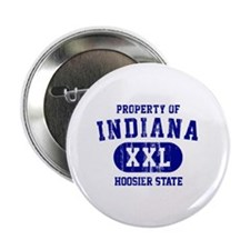 "Property of Indiana the Hoosier State 2.25"" Button"