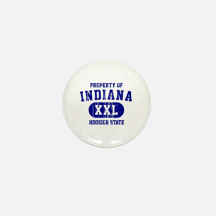 Property of Indiana the Hoosier State Mini Button