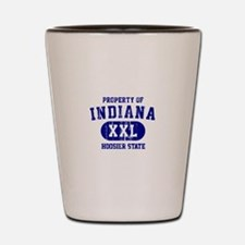 Property of Indiana the Hoosier State Shot Glass