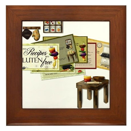 All My Recipes are Gluten Free Framed Tile