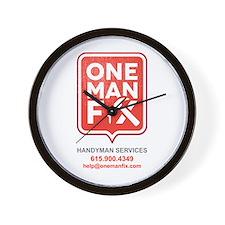 One Man Fix - Wall Clock