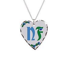 (Necklace Heart) NF (Neurofibromatosis) Awareness