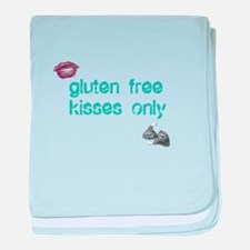Gluten Free Kisses Only baby blanket