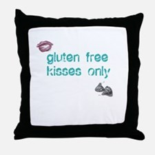 Gluten Free Kisses Only Throw Pillow