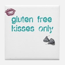 Gluten Free Kisses Only Tile Coaster