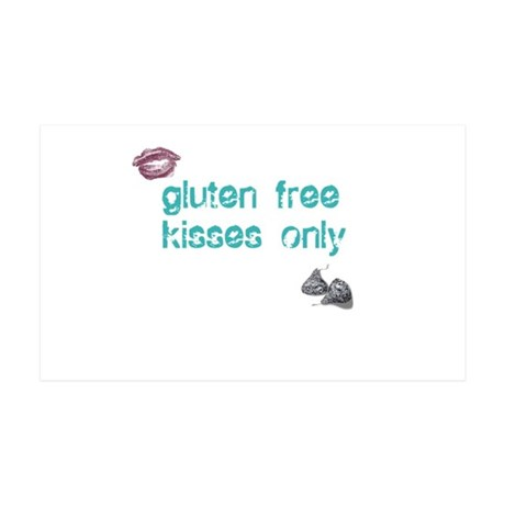 Gluten Free Kisses Only 35x21 Wall Decal
