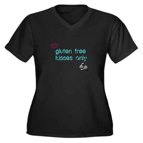 Gluten Free Kisses Only Women's Plus Size V-Neck D