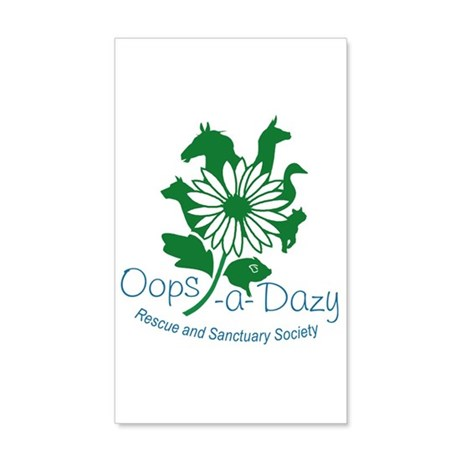 Oops-a-Dazy Logo 20x12 Wall Decal