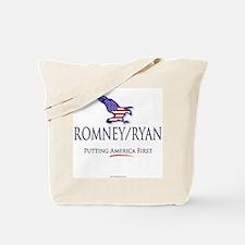 Romney/Ryan - Putting America First Tote Bag