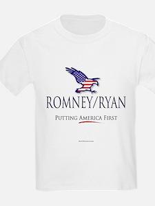 Romney/Ryan - Putting America First T-Shirt
