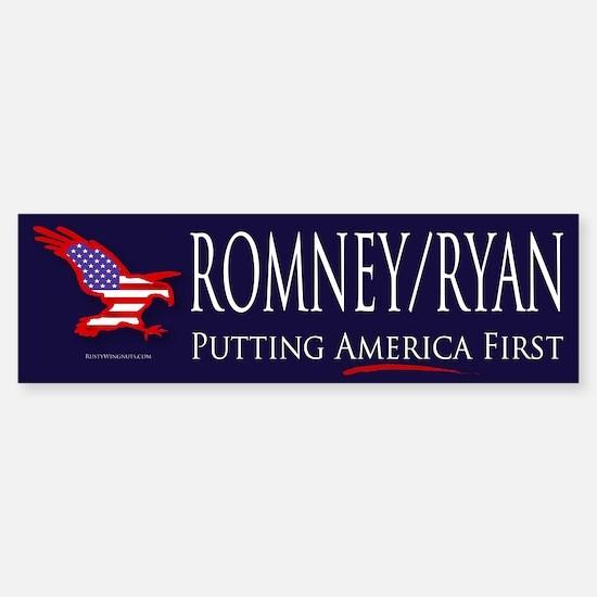 Romney-Ryan America bs.png Sticker (Bumper)