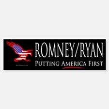 Romney/Ryan - Putting America First Bumper Bumper Sticker