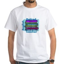 Retired English Teacher BLUE Books.PNG Shirt
