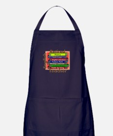 Retired English Teacher Book Stack.PNG Apron (dark