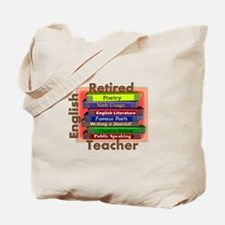 Retired English Teacher Book Stack.PNG Tote Bag