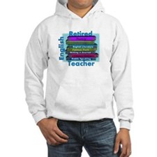 Retired English Teacher BLUE Books.PNG Hoodie