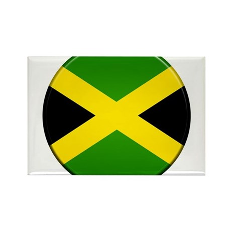 Jamaican Button Rectangle Magnet