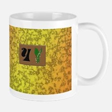 monogram Y with lily of the valley Mug