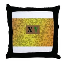 monogram X with lily of the valley Throw Pillow