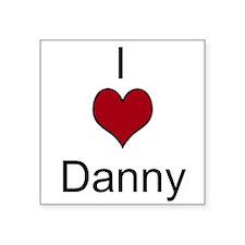 """I 3 Danny Square Sticker 3"""" x 3"""""""