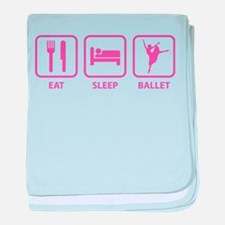 Eat Sleep Ballet baby blanket