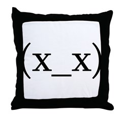 Dead Anime Smiley Throw Pillow