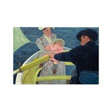 Cassatt - Boating Party Rectangle Magnet (10 pack)