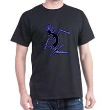 Kokopelli Extreme Skiier Black T-Shirt