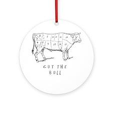 Cut the Bull Ornament (Round)