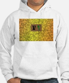 monogram F with lily of the valley Hoodie