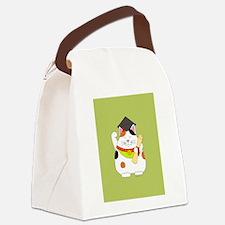 Graduation Maneki Neko Canvas Lunch Bag