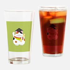 Graduation Maneki Neko Drinking Glass