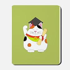 Graduation Maneki Neko Mousepad