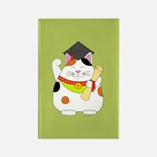 Graduation Maneki Neko Rectangle Magnet