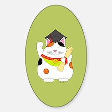 Graduation Maneki Neko Decal
