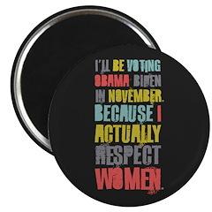 """Respect Women 2.25"""" Magnet (100 pack)"""