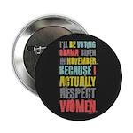 """Respect Women 2.25"""" Button (10 pack)"""