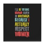 Respect Women Tile Coaster