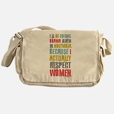 Respect Women Messenger Bag