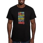 Respect Women Men's Fitted T-Shirt (dark)