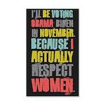 Respect Women 35x21 Wall Decal