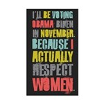 Respect Women Sticker (Rectangle)